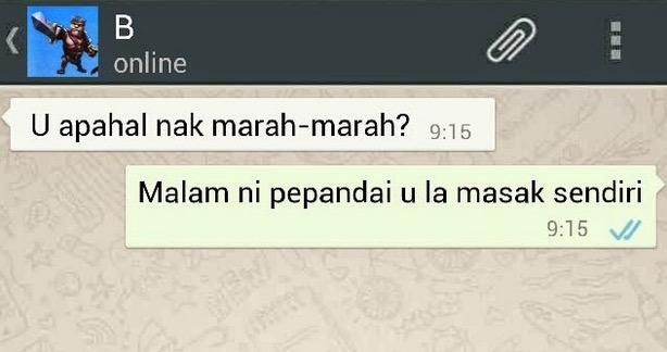 Whatsapp Semasa Bercinta Dan Selepas Berkahwin
