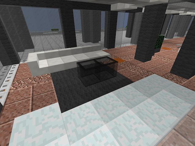 Minecraft kantoor gebouw zithoek