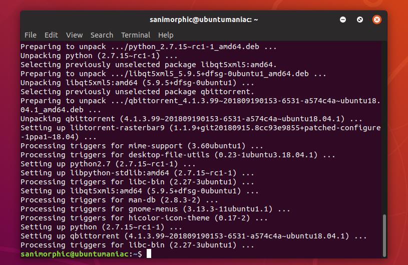 Install qBittorrent 4 1 3 on Ubuntu / Linux Mint