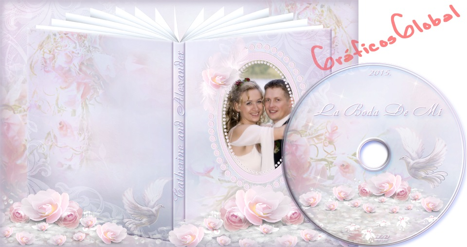 Portada DVD tipo Album ideal para Matrimonio