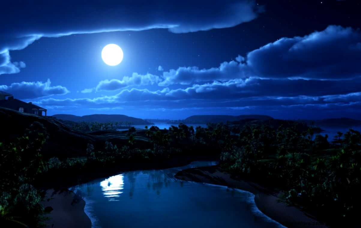 Amazing Blue Night Sky   Important Wallpapers - photo#33