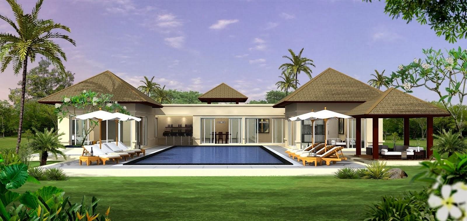 Decoraci n y afinidades casas modernas con piscina for Casa moderna tunisie