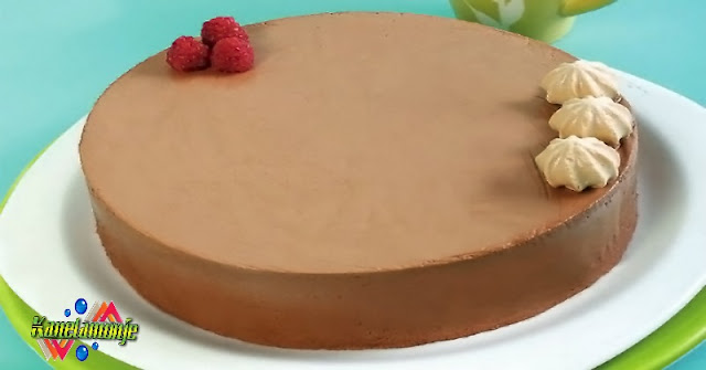 Pastel fresco de chocolate