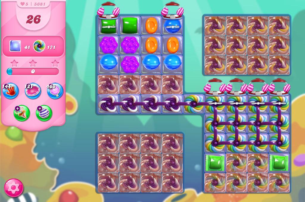 Candy Crush Saga level 5681