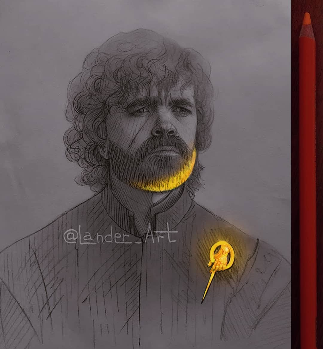 01-Tyrion-GoT-Peter-Dinklage-Chertkova-Lena-Game-of-Thrones-Glowing-Sketches-www-designstack-co