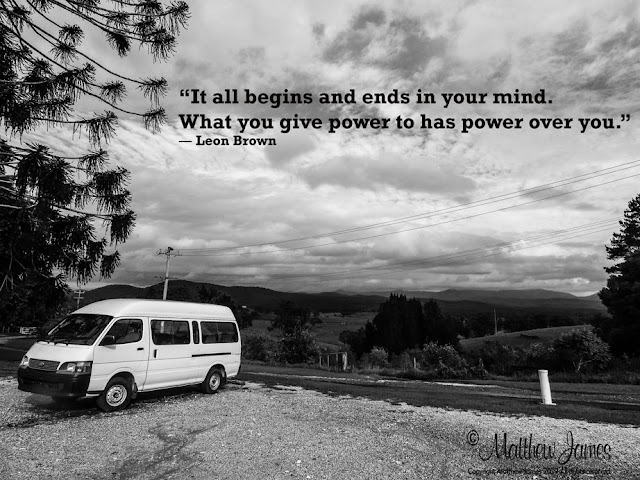 """""""It all begins and ends in your mind. What you give power to has power over you"""" - Leon Brown"""