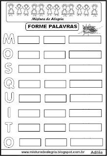 Forme palavras MOSQUITO-dengue