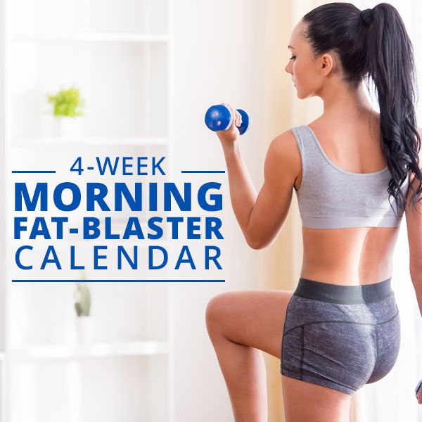 4-Week Morning Fat Blaster Calendar