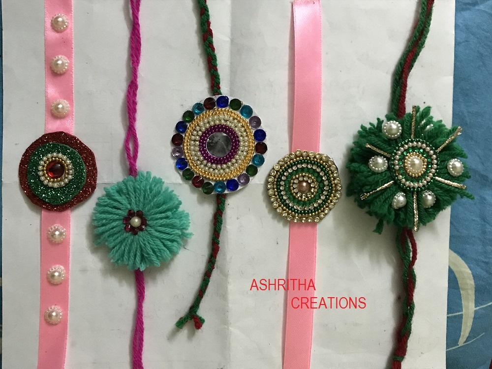 Art And Crafts Make Rakhi At Home For Raksha Bandhan