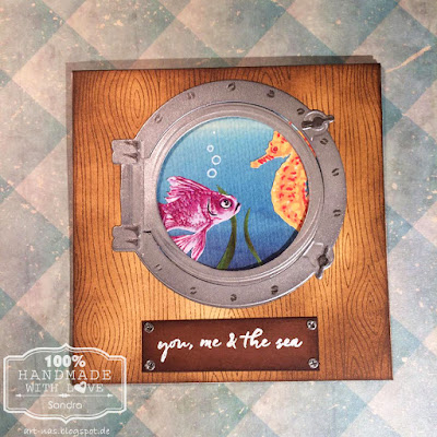 Hero Arts Color Layer Goldfish und Color Layer Seahorse mit marianne Design Porthole