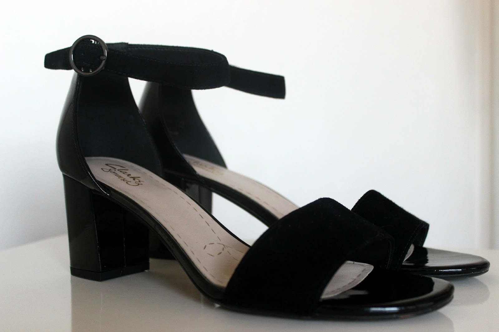 fae7389153d Clarks Susie Deva Black Combination Suede Sandals  £50