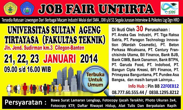Job Fair FT UNTIRTA Januari 2014