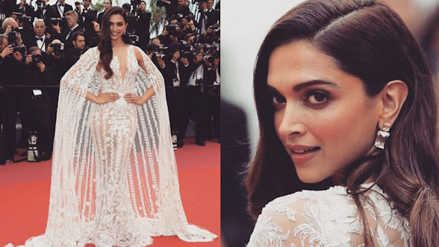 Deepika Padukone in Zuhair Murad at Cannes 2018