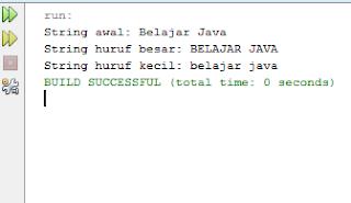 Mengubah Huruf Kapital dan Huruf Kecil di Java
