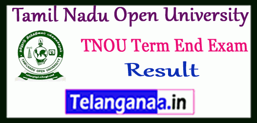 TNOU Tamil Nadu Open University Term End Result
