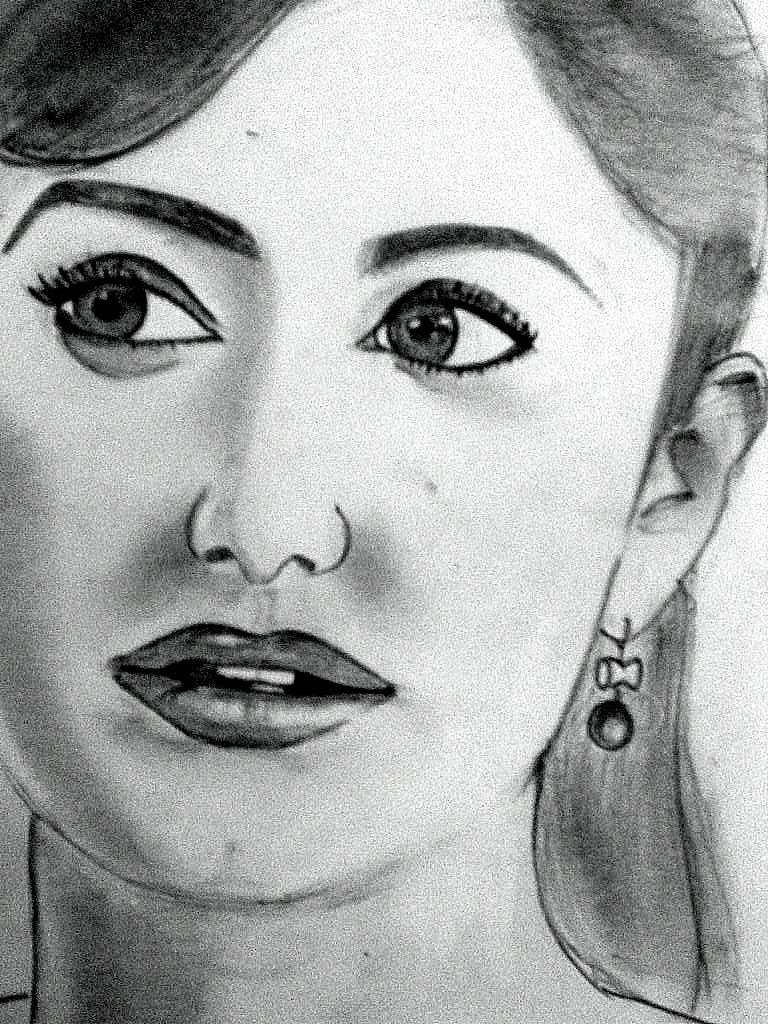 Katrina kaif sketch pencil