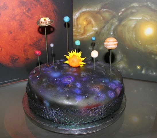 Galaxy Mirror Cake Recipe