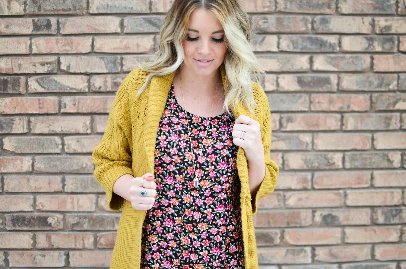 Floral, Mustard