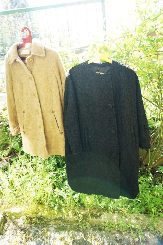 galeries lafayette coat années 50 1950s 50s manteau