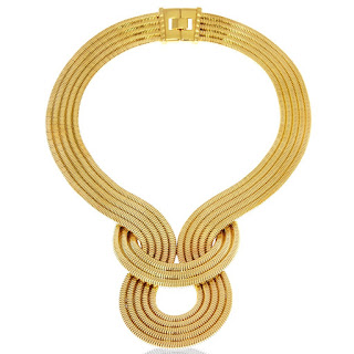 Lara Bohnic Sample Sale LUNAR ECLIPSE NECKLACE - YELLOW GOLD