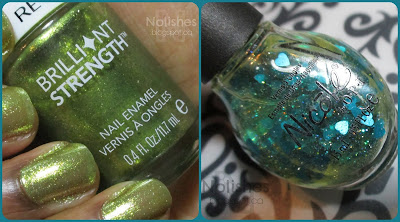 Revlon Brilliant Strength 'Tantalize' (colour 120), and Nicole by OPI 'Honey-Dew You Love Me?'
