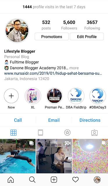 8 cara menaikan kunjungan profil instagram