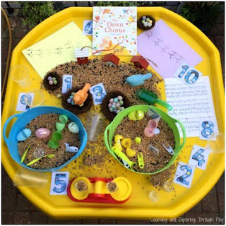 Bird Themed Tuff Tray. Bird Activities for Preschool.