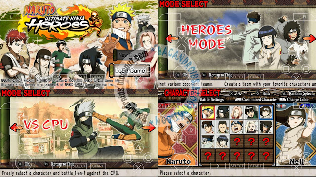 game Game Naruto Ultimate Ninja Heroes ISO Compress PPSSPP Android