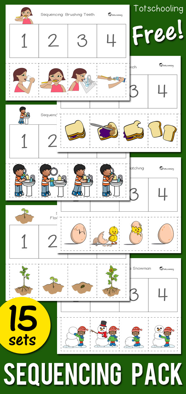 Sequencing Activity Pack | Totschooling - Toddler, Preschool ...