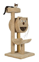 Molly and Friends cat trees have wide, stable bases and perches large enough for adult cats to stretch out on.
