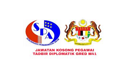 Permohonan Pegawai Tadbir dan Diplomatik M41 2019 SPA Online