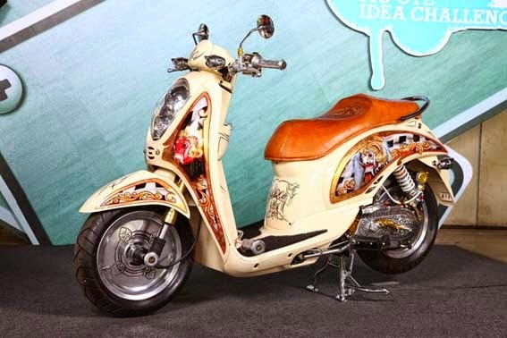 Modifikasi Honda Scoopy FI