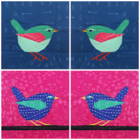 Foundation Paper Pieced Rock Wren Quilt Pattern