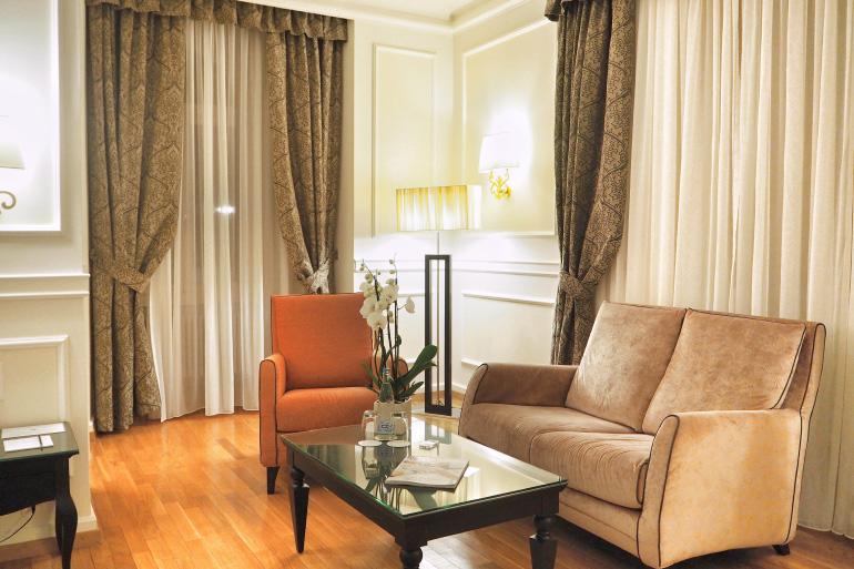 Chambre à l'hôtel du château d'Ouchy à Lausanne en Suisse