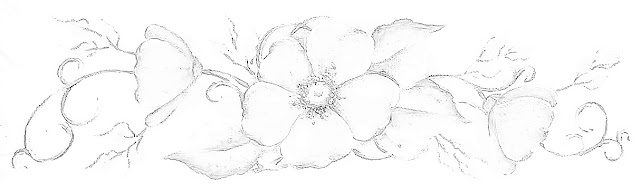 pintura em tecido risco flor do campo