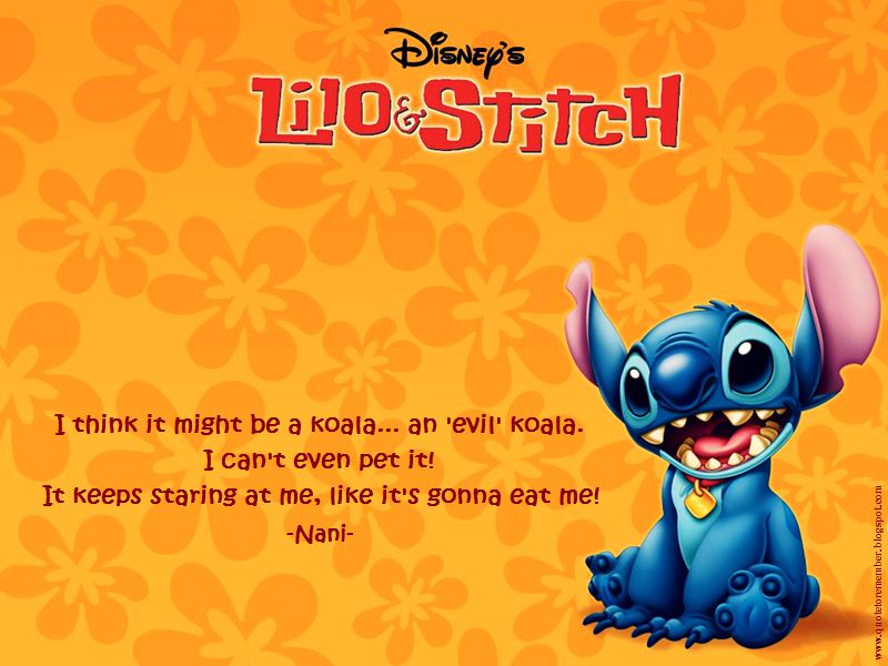 Lilo And Stitch Funny QuotesLilo And Stitch Quotes