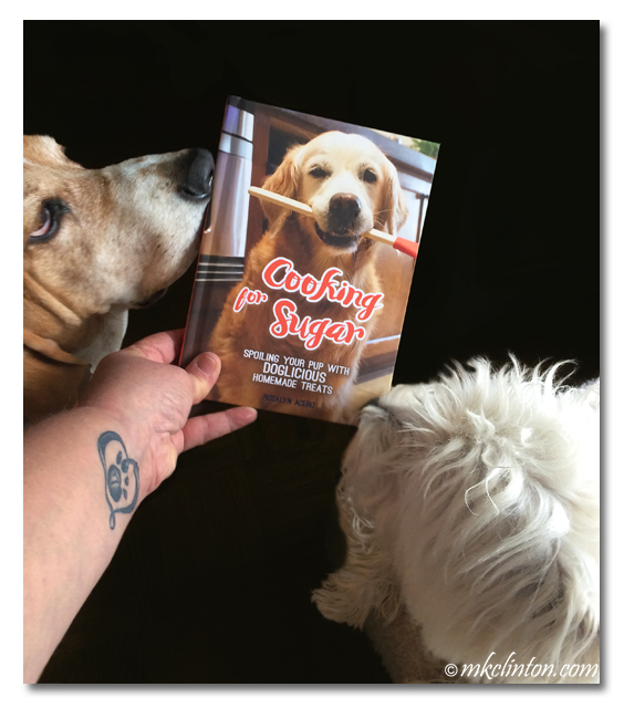 Bentley Basset Hound and Pierre Westie love Cooking for Sugar recipe book