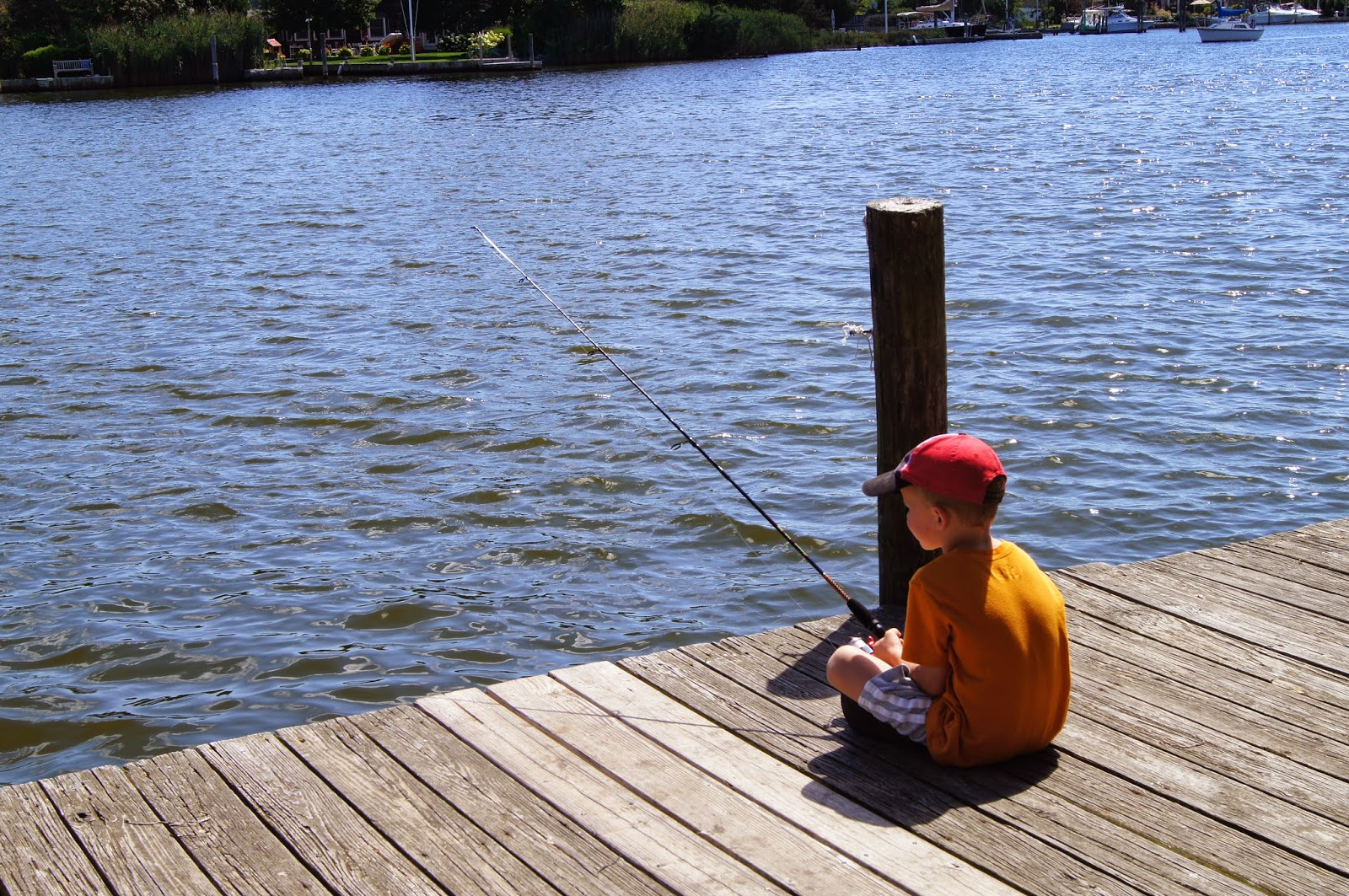 5 year old fishing
