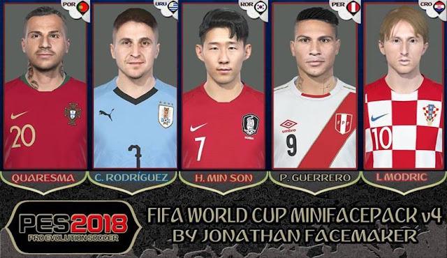 FIFA World Cup 2018 Mini Facepack V4 PES 2018