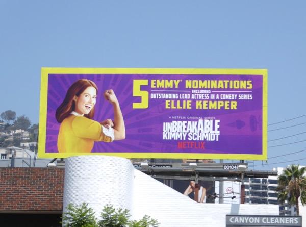 Ellie Kemper Kimmy Schmidt Emmy billboard