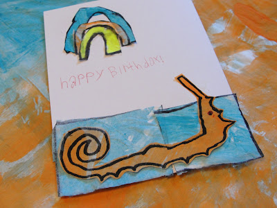 Eric Carle's birthday card made by child