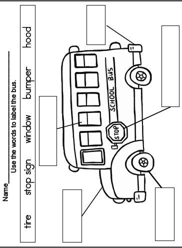School Bus Diagram