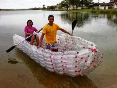 kerajinan barang bekas dari botol aqua 1