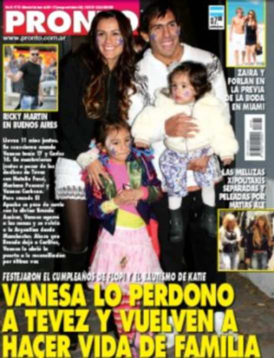 Wanda nara y carlos tevez tapas de revistas noticu ntalo for Revistas del espectaculo