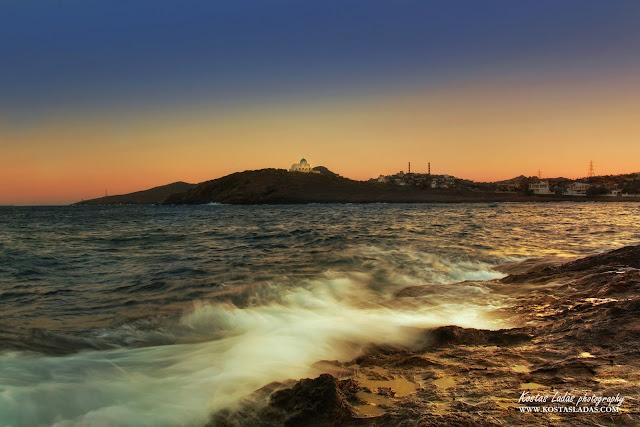 νερο,φωτογραφια τοπιου,Κωστας Λαδάς,χρωματα στον ουρανο,δυση ηλιου