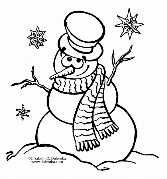 Blank Snowman Coloring Pages  Disney Coloring Pages Throughout Blank  Coloring Pages