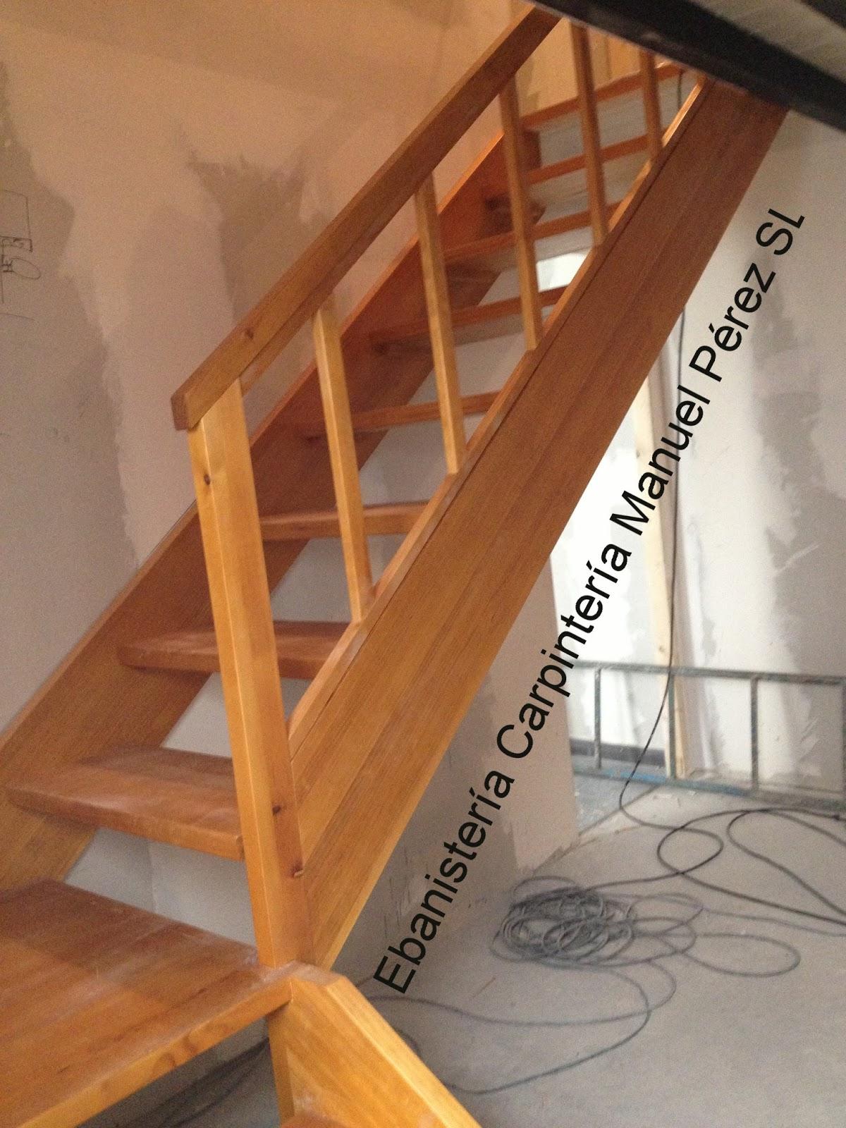 Carpinteria manuel perez zaragoza fabricaci n y - Escalera madera ...