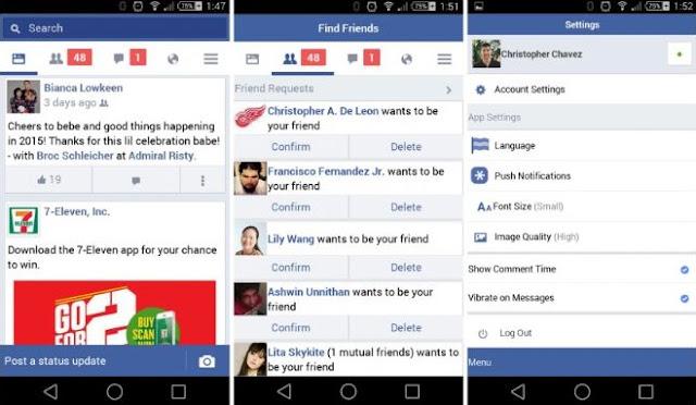 Screenshot Facebook Lite Mod
