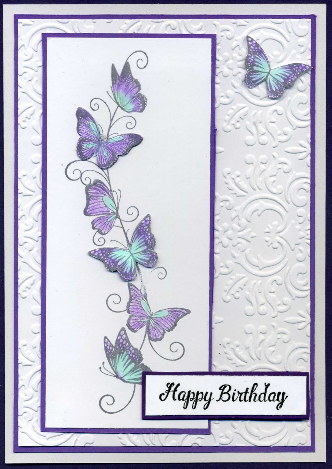 night time stamping butterfly border