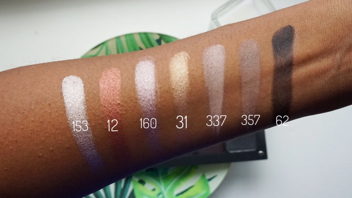 Inglot Eye shadow Swatches